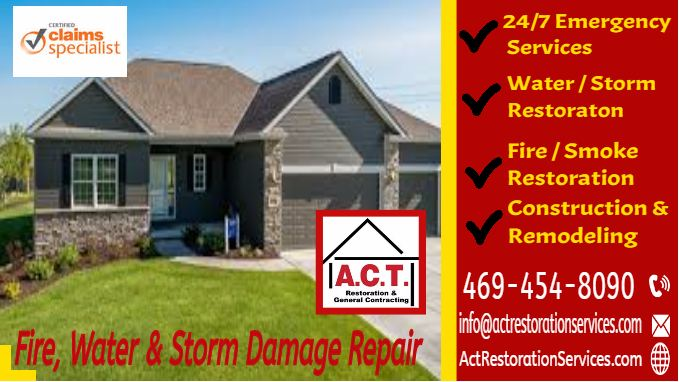fire, water, storm damage repair, texas